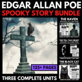 Edgar Allan Poe Short Story Unit - Raven, Tell Tale Heart, Black Cat
