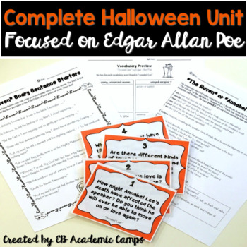 Halloween Reading & Writing Activities for Middle School {Poe}