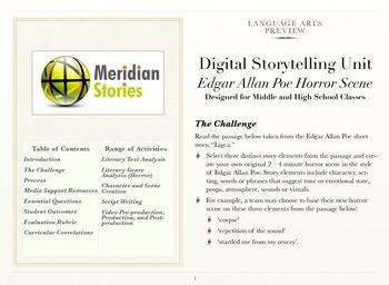 Edgar Allan Poe Horror Scene - Creative Digital Narrative