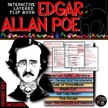 EDGAR ALLAN POE SHORT STORIES LITERATURE GUIDE FLIP BOOK