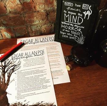Edgar Allan Poe Internet Scavenger Hunt