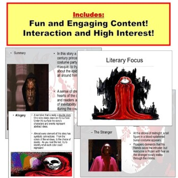 Edgar Allan Poe Intro and Masque of Red Death PowerPoint