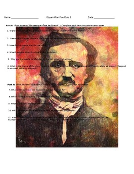 Edgar Allan Poe: Masque of the Red Death/The Raven Quiz
