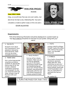 Edgar Allan Poe Mini-Research Assignment with Coat of Arms