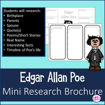 Edgar Allan Poe Mini Research Brochure