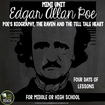 Edgar Allan Poe Mini Unit The Raven and The Tell Tale Heart