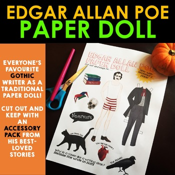 Edgar Allan Poe Paper Doll - Cut Out & Keep! Contextual & Biographical Activity