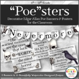 Edgar Allan Poe, Posters, Classroom Decor, Halloween