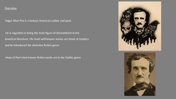 Edgar Allan Poe - Power Point - Life Story The Raven Facts Information Pictures