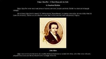 Edgar Allan Poe PowerPoint Biography
