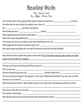 Edgar Allan Poe Reading Guides (The Tell-Tale Heart and The Black Cat)