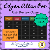 Edgar Allan Poe Review Game- Editable for your unit!