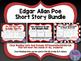 Edgar Allan Poe Short Story Bundle: Close Reading Units & Task Cards