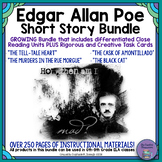 Edgar Allan Poe Short Story Bundle: Close Reading Units & Task Cards