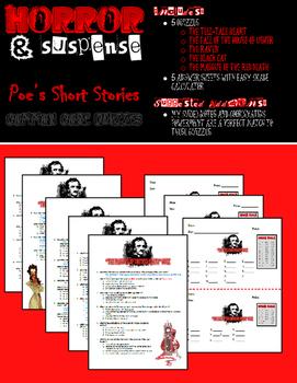 Edgar Allan Poe Tales of Horror & Suspense Quizzes - Common Core Aligned