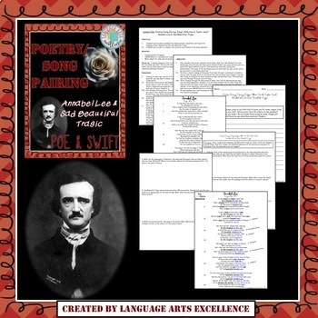 Poe's Annabel Lee & Taylor Swift Poetry/Song Pairing