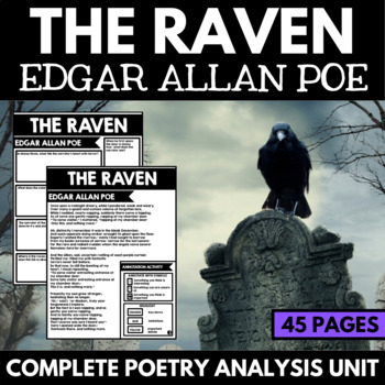 Edgar Allan Poe Short Story Unit with Questions, Close Reading, and Activities