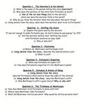 Edgar Allan Poe: The Cask of Amontillado Comprehension Questions