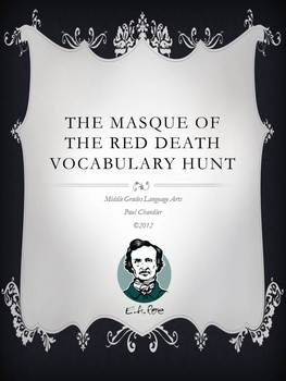 Edgar Allan Poe The Masque of the Red Death Vocabulary Hunt