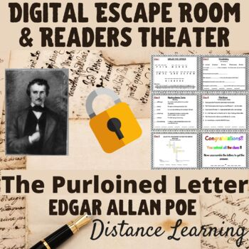 "Edgar Allan Poe -""The Purloined Letter""-One-Act Play Script and Escape Room Game"