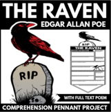 Edgar Allan Poe   The Raven   Comprehension Question Project   Halloween