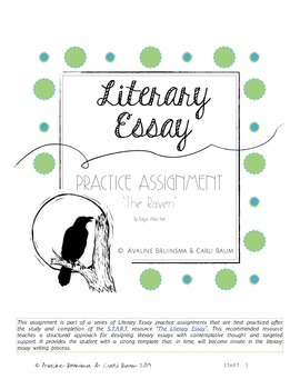 Literary Essay Writing - (Edgar Allan Poe - The Raven) (Halloween Activity)