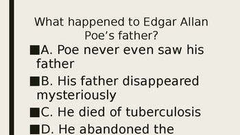 Edgar Allan Poe Trivia Game