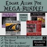 Edgar Allan Poe Unit Bundle!  The Raven, Tell-Tale Heart, Amontillado, Web Quest