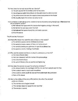 Edgar Allan Poe Unit Quiz