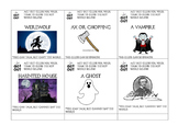 Edgar Allan Poe and Gothic Literature Charades and Pictionary