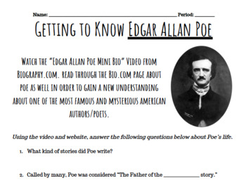 "Edgar Allan Poe and ""The Cask of Amontillado"""