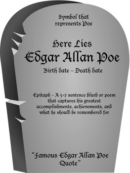 Edgar Allan Poe's Obituary - Halloween Lesson Plan