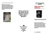 Edgar Allan Poe exhibit brochure