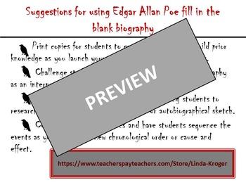 Edgar Allan Poe fill in the blank biography!