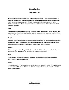 """Edgar Allan Poe's """"Black Cat"""" Cooperative Learning Assignment"""