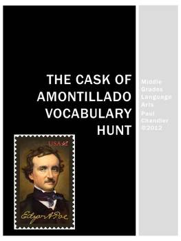 Edgar Allan Poe's Cask of Amontillado Vocabulary Hunt