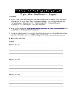 Edgar Allan Poe's Death Research Project