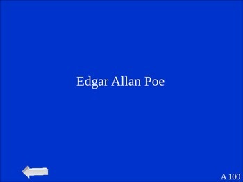 """Edgar Allan Poe's """"The Gold Bug"""" Jeopardy Review Game"""
