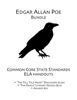 """Edgar Allan Poe's """"The Raven"""" and """"The Tell Tale Heart"""" Handouts"""