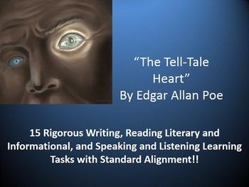 "Edgar Allan Poe's ""The Tell-Tale Heart"" – 15 Common Core Learning Tasks!!"