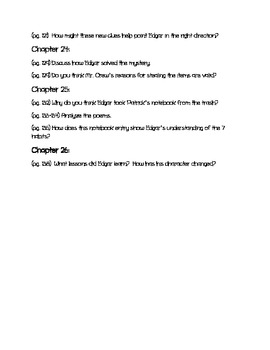 Edgar Allan's Official Crime Investigation Notebook Discussion Questions