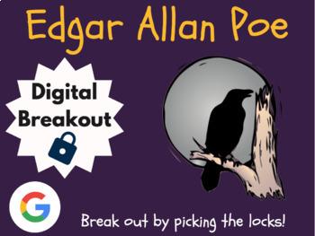 Edgar Allen Poe - Digital Breakout! (Escape Room, Brain Break, Scavenger Hunt)
