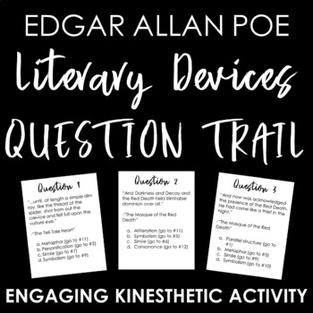 Edgar Allen Poe Literary Devices Question Trail: Engaging Activity