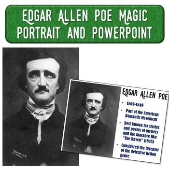 Edgar Allen Poe Magic Portrait Video & PowerPoint for Author Study