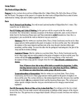 Edgar Allen Poe Project
