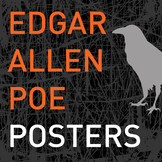 Edgar Allen Poe Quote Posters - Set of 4 posters