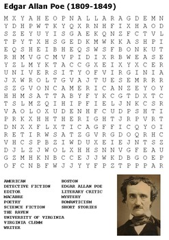 Edgar Allan Poe Word Search