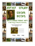 Edgar Degas Art-Inspired Writing:  Phonics Focus