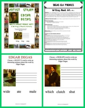 Edgar Degas Art-Inspired Writing:  Phonics Focus