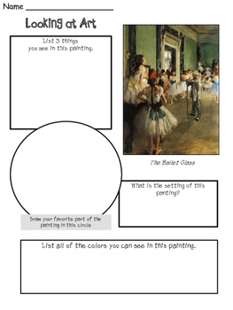 Edgar Degas - Meet the Artist - Artist of the Month - Mini Unit Printables